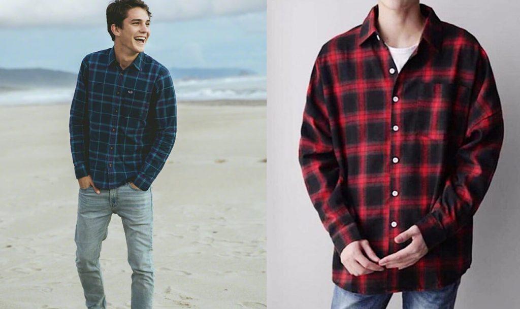ao flannel form dang chuan