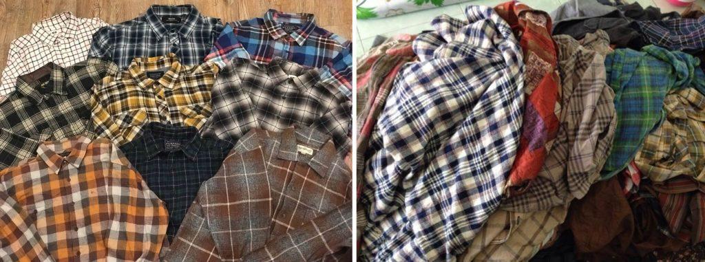 ao flannel hang thung
