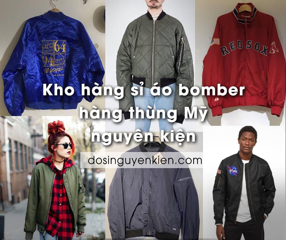 Kho hàng sỉ áo khoác Bomber hàng thùng Mỹ | Nguyên kiện