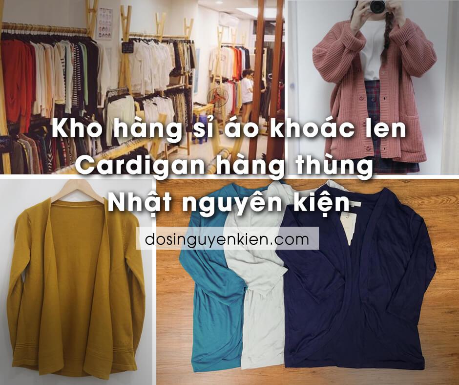 Kho hàng sỉ áo khoác len Cardigan hàng thùng Nhật | Nguyên kiện