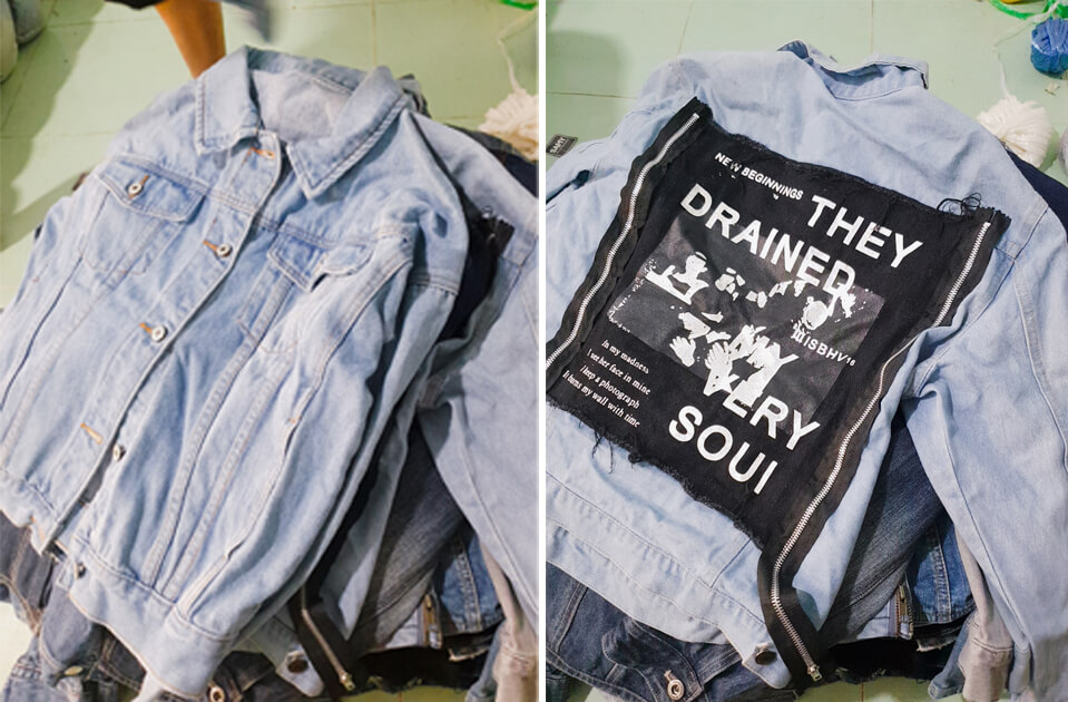 ao khoac jeans hang thung la ao da qua su dung nhung chat luong con tot va moi toi 90-95%