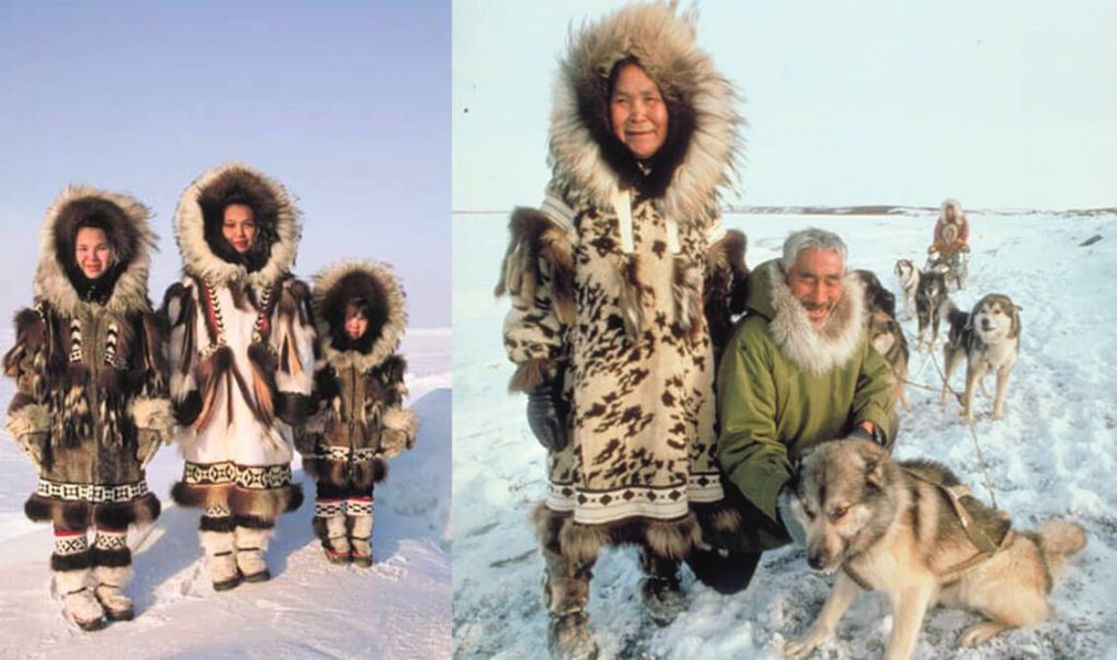 ao parka co nguon goc va doc phat minh boi nguoi Caribou Inuits- bac cuc