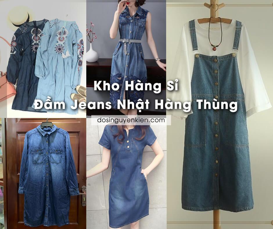 kho hang si dam jeans nhat hang thung