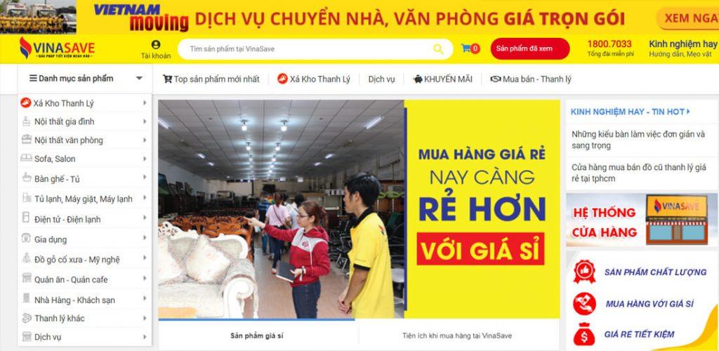 Vinasave la website ban do cu chuyen ve do noi that tai tphcm
