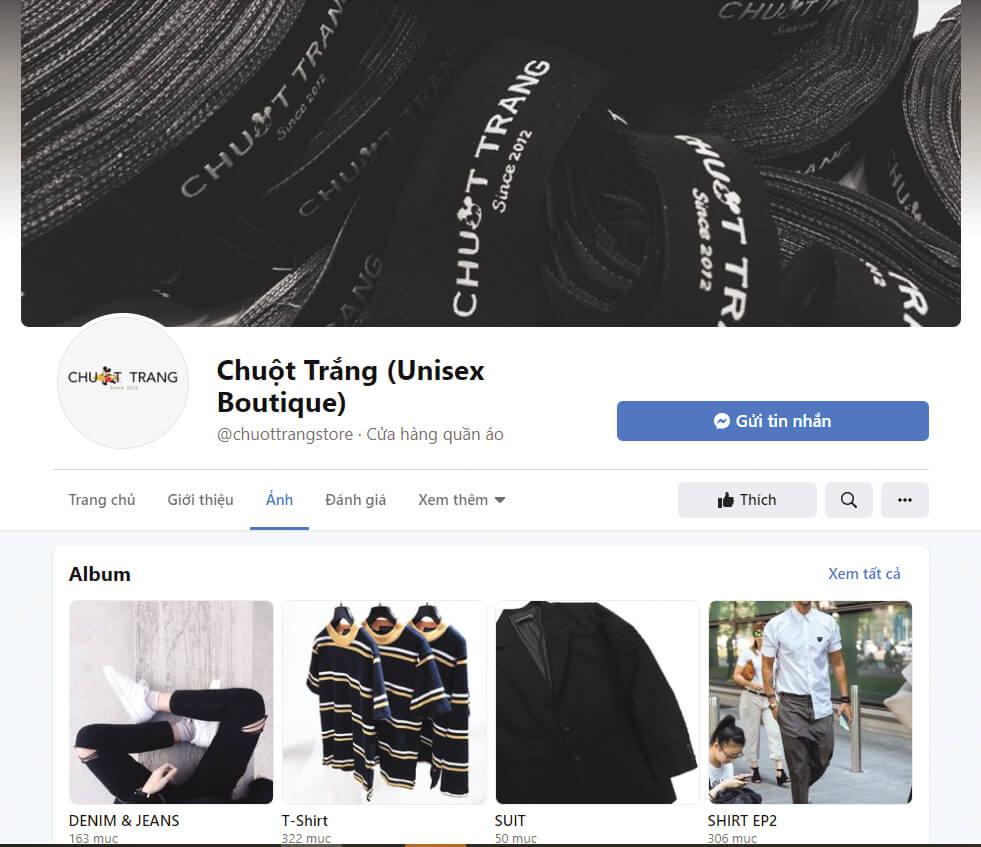chuot trang shop la shop ban ao thun unisex noi tieng tren facebook va instagram