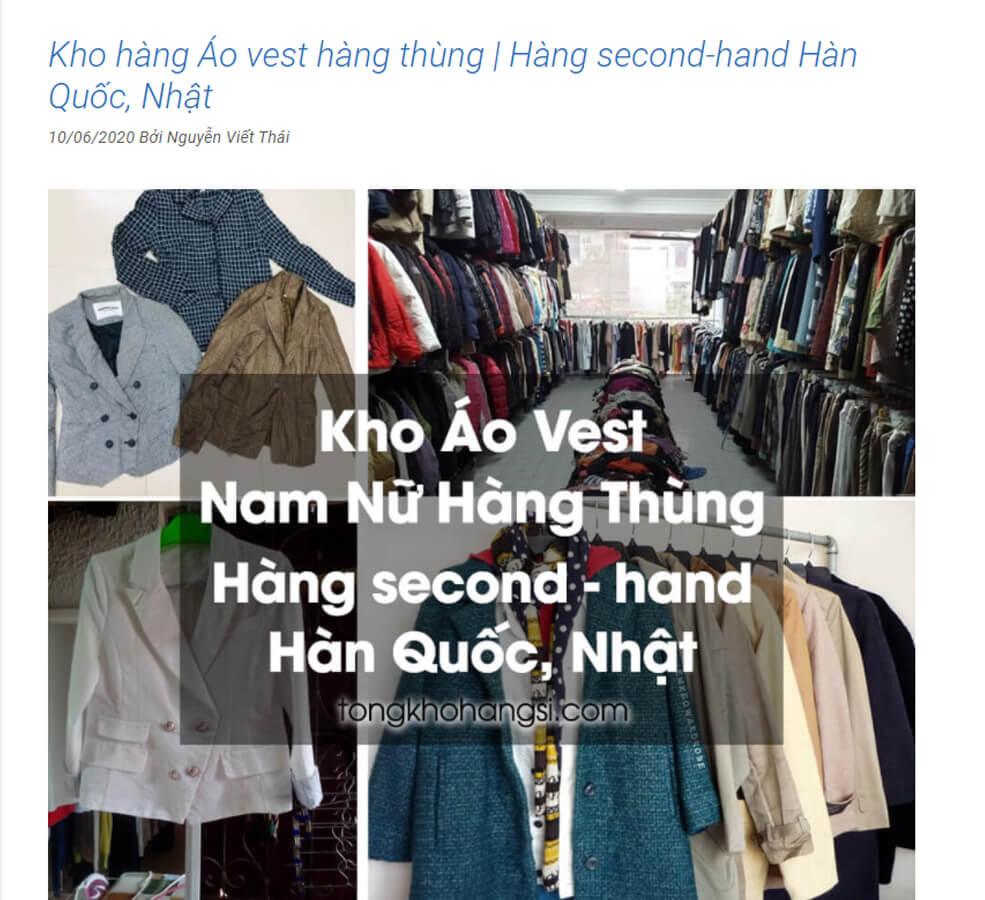 dosinguyenkien.com cung cap kho si ao vest hang thung lon nhat hien nay